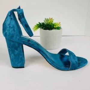 NWOT Madden Girl Beela Blue High Heeled Sandals